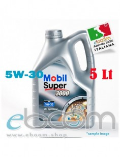 MOBIL-5W30-Olio-motore-Auto-XE-Super-3000-DEXOS-2-C3-5-Litri