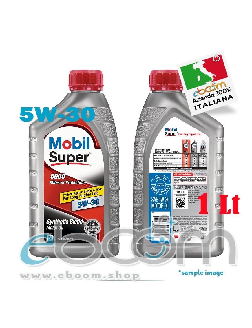 MOBIL-5W30-Olio-motore-Auto-Sintetico-Blend-Motor-Oil-long-life-1-Litro