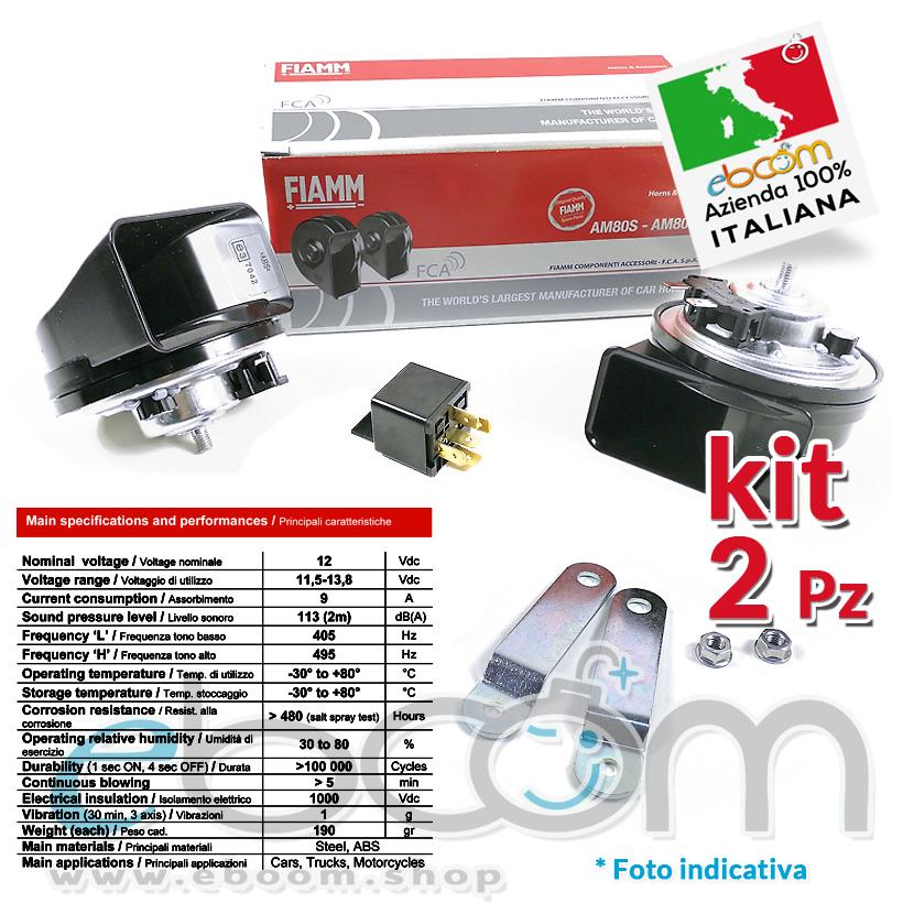 kit tromba FIAMM AM80SX